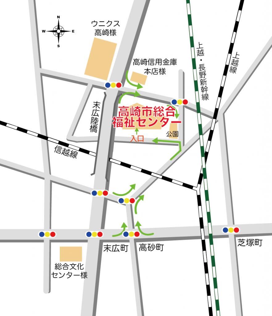 高崎市総合福祉センターの地図
