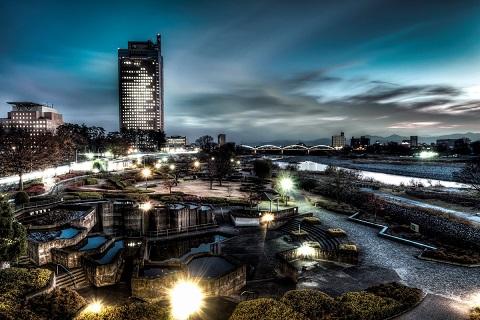 前橋の夜景写真